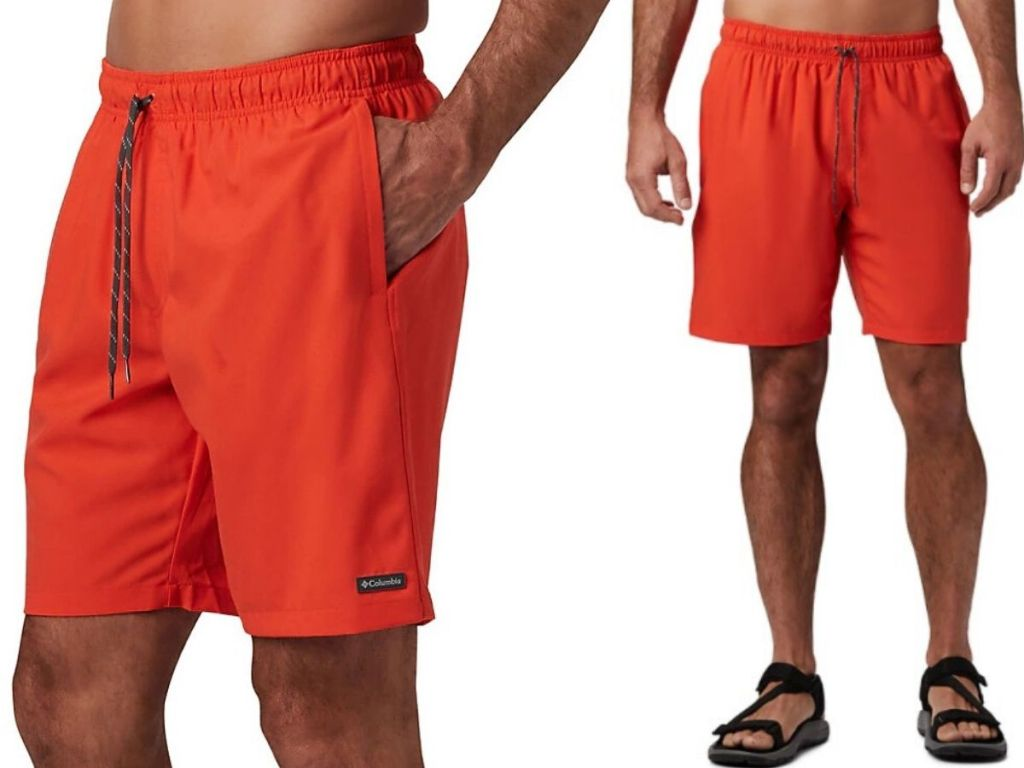 man wearing swim trunks