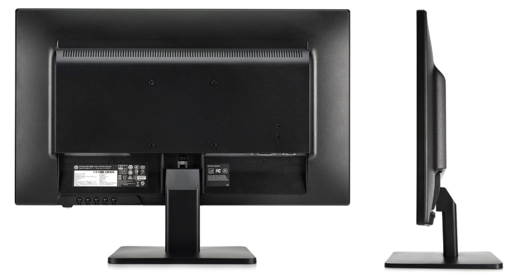 the back side and side view of a of a computer monitor