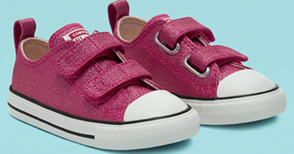 purple toddler two strap converse shoes