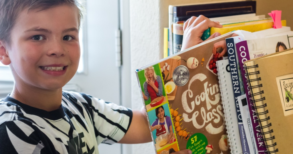 Boy with Cooking Class Cookbook