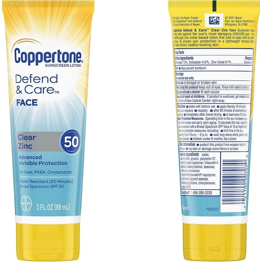 two bottles of sunscreen