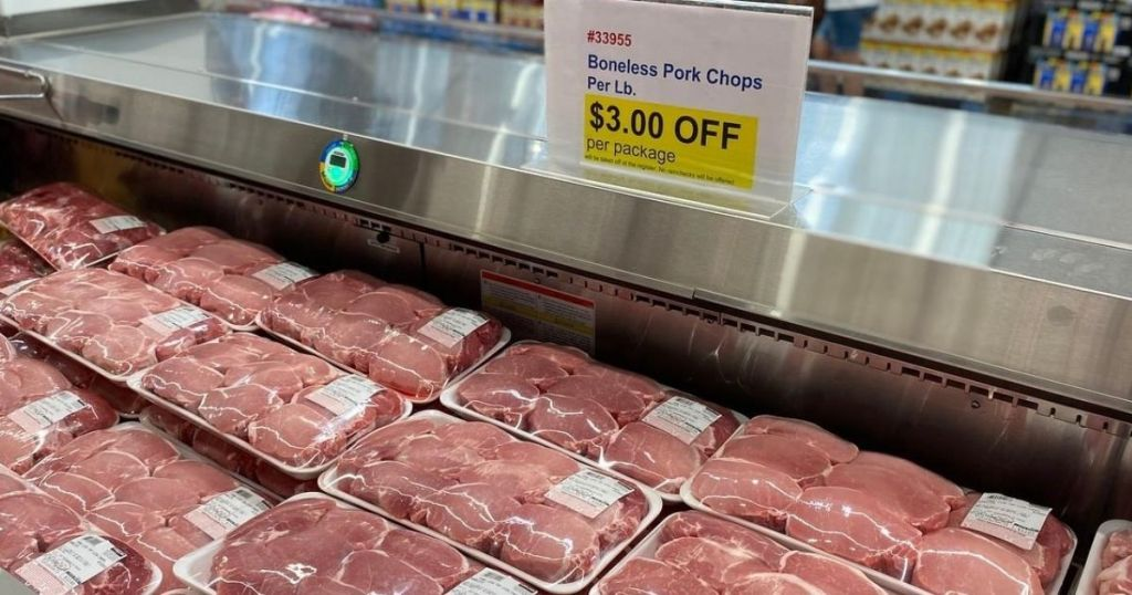 pork chops in cooler at costco