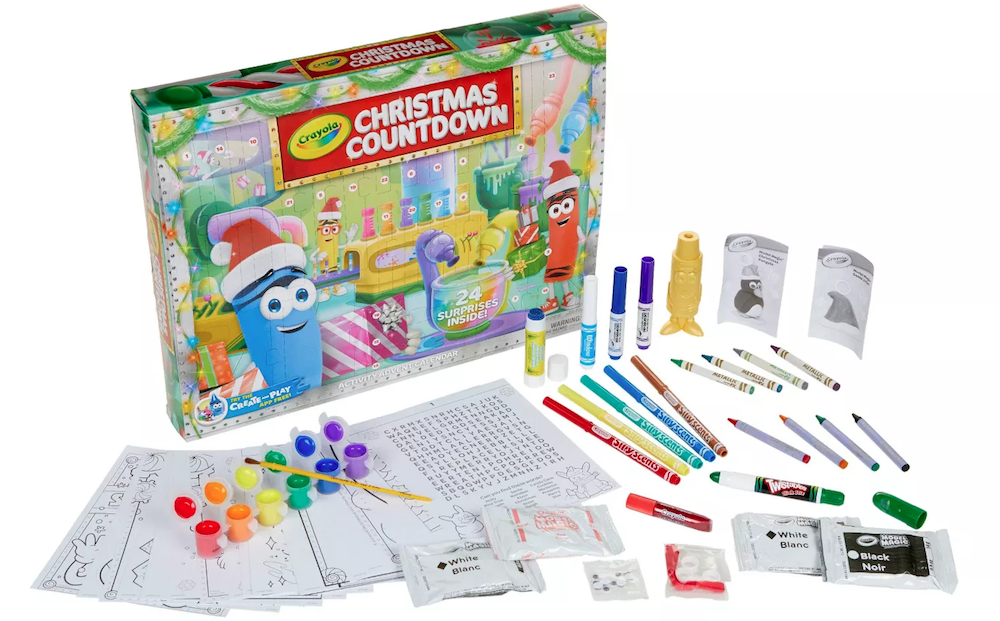 Crayola Christmas Countdown Contents