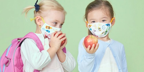 5 Crayola Kids Non-Medical Reusable Face Masks & Laundry Bag Just $29.99 | Pre-Order Now