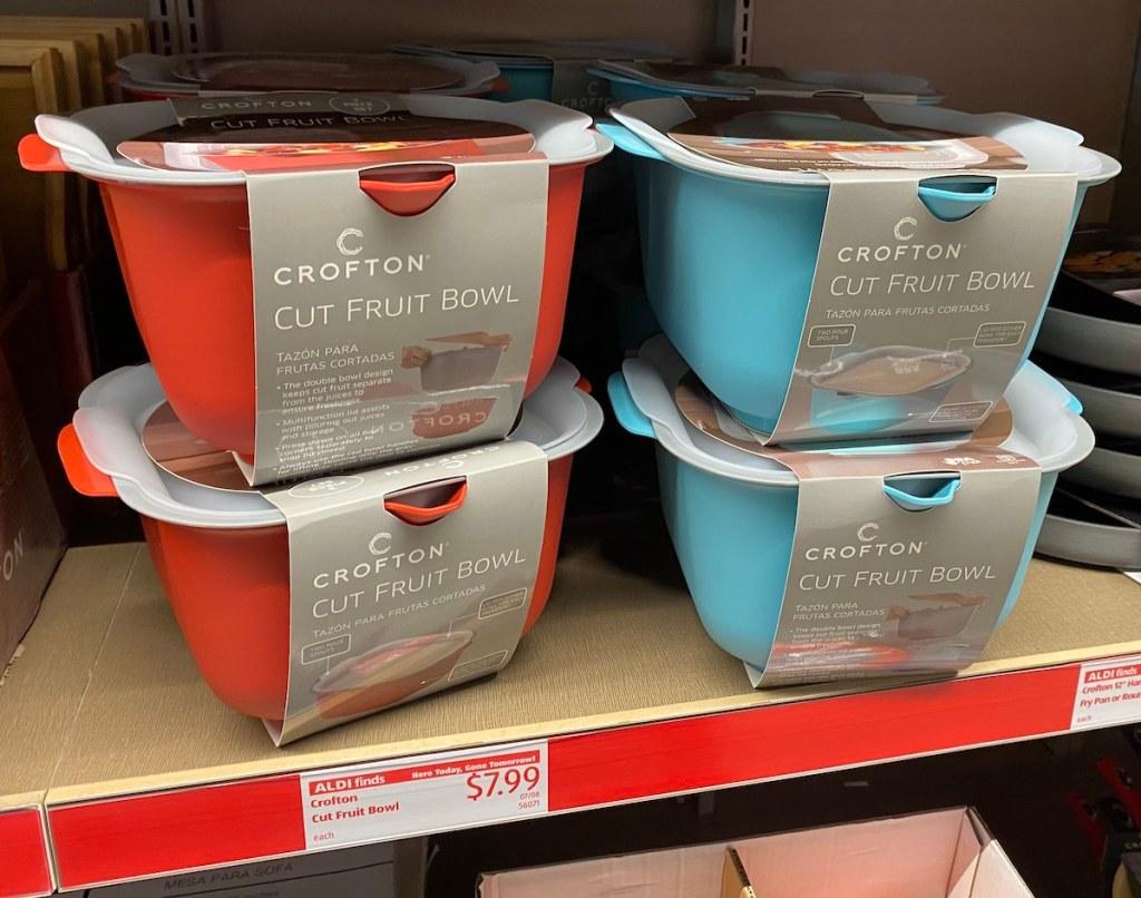 red or light blue crofton cut fruit bowl