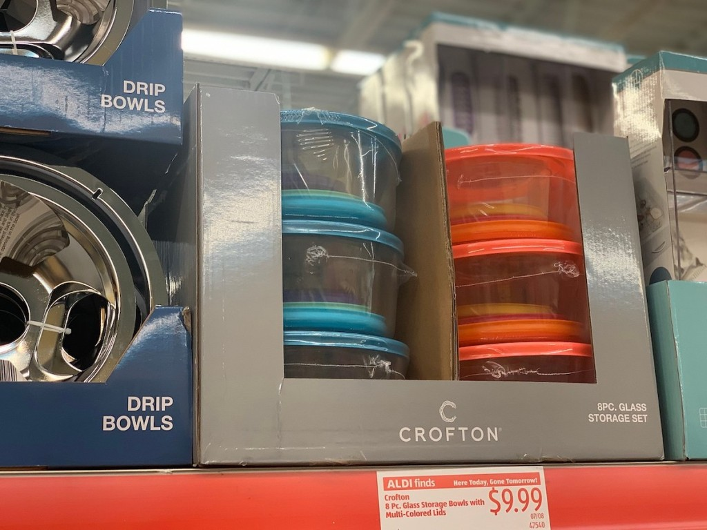 shelf with Crofton Storage Bowls