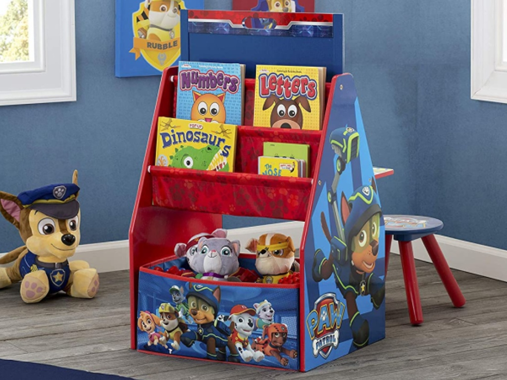 Paw Patrol art desk and chair in Paw Patrol themed bedroom