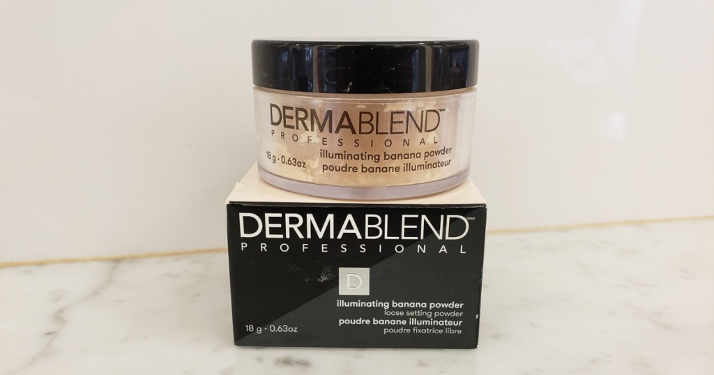 dermablend setting powder and box