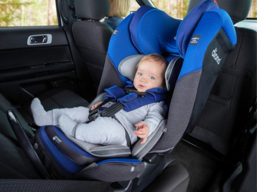 Diono Radian 3QX car seat in car with kid