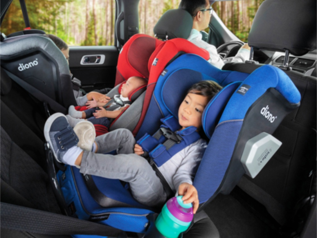 Diono Radian 3QXT car seat in car with kids