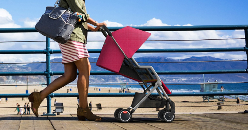 Diono Traverze Plus Stroller in pink at beach
