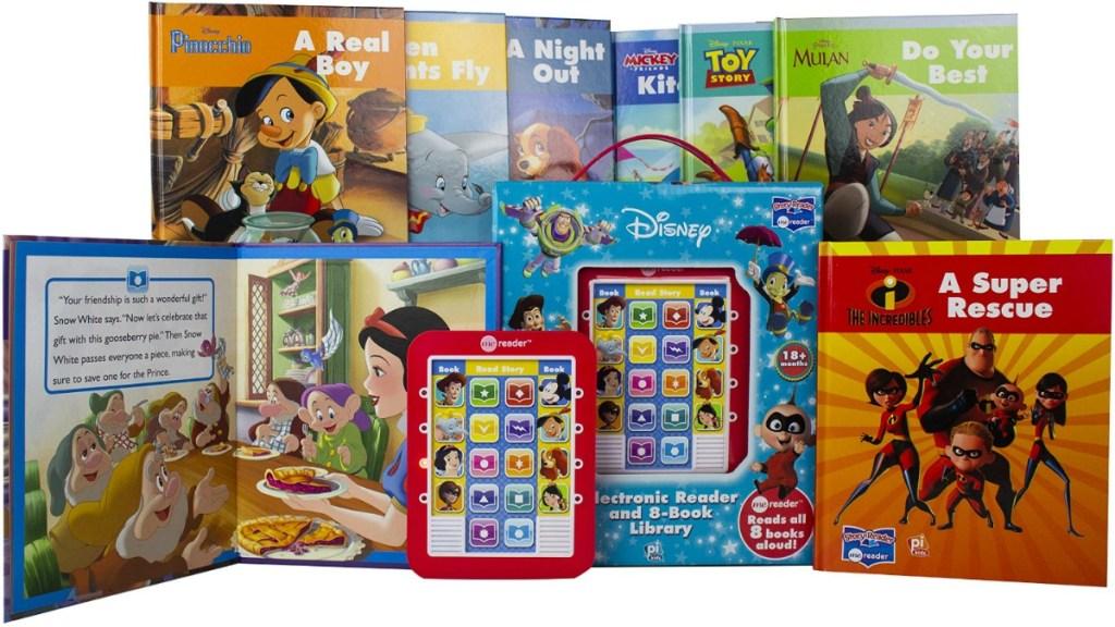 Disney themed ereader with hardcover books
