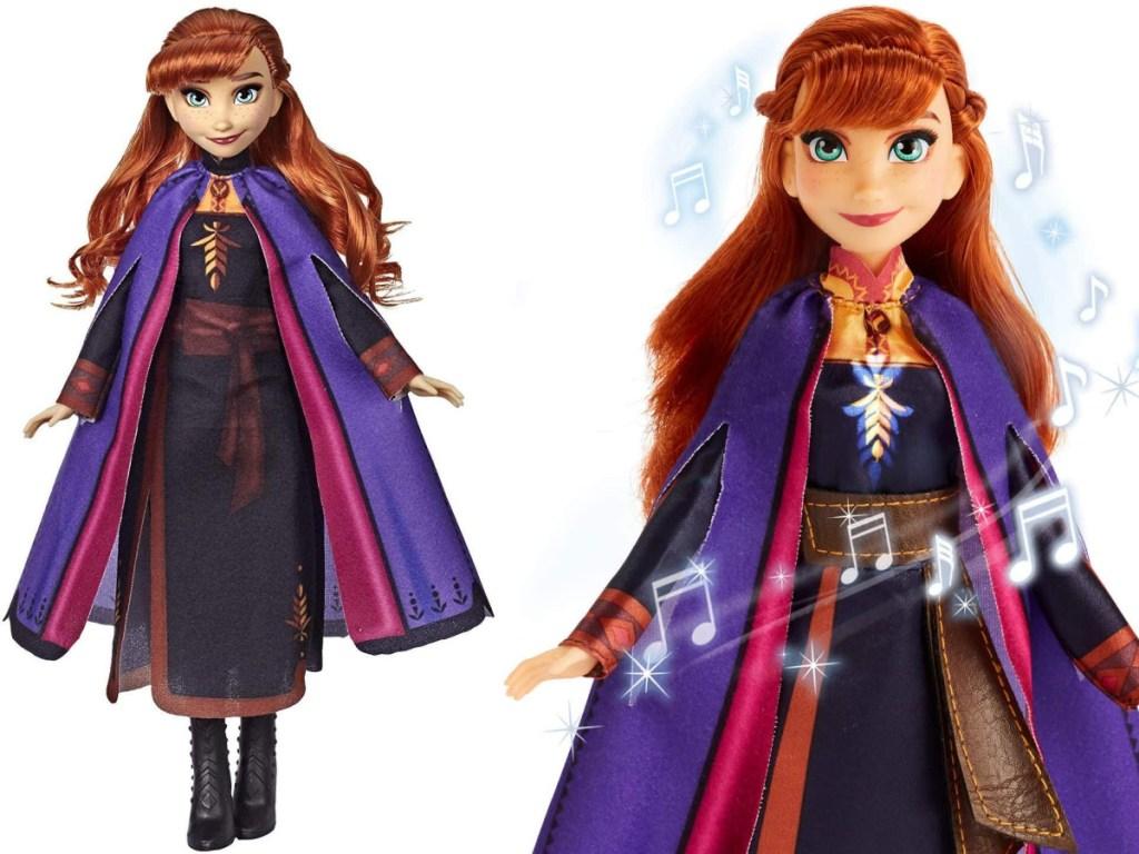 2 Anna dolls frozen disney frozen 2 standing side by side