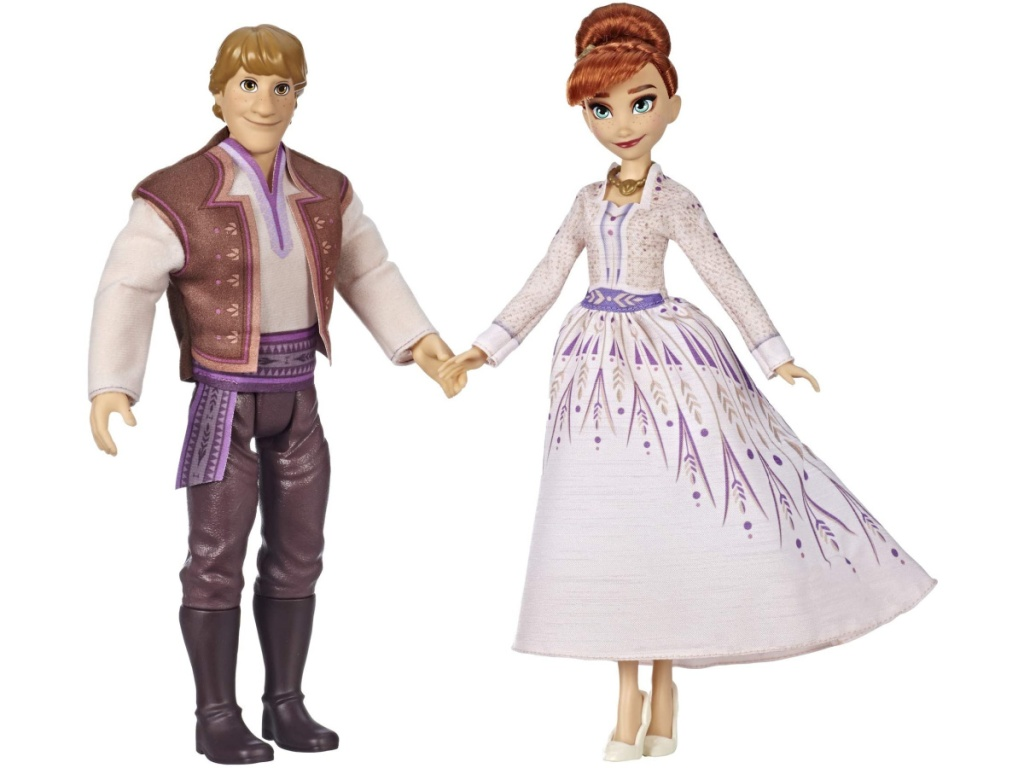 Anna and Kristoff dolls from frozen 2 holding hands