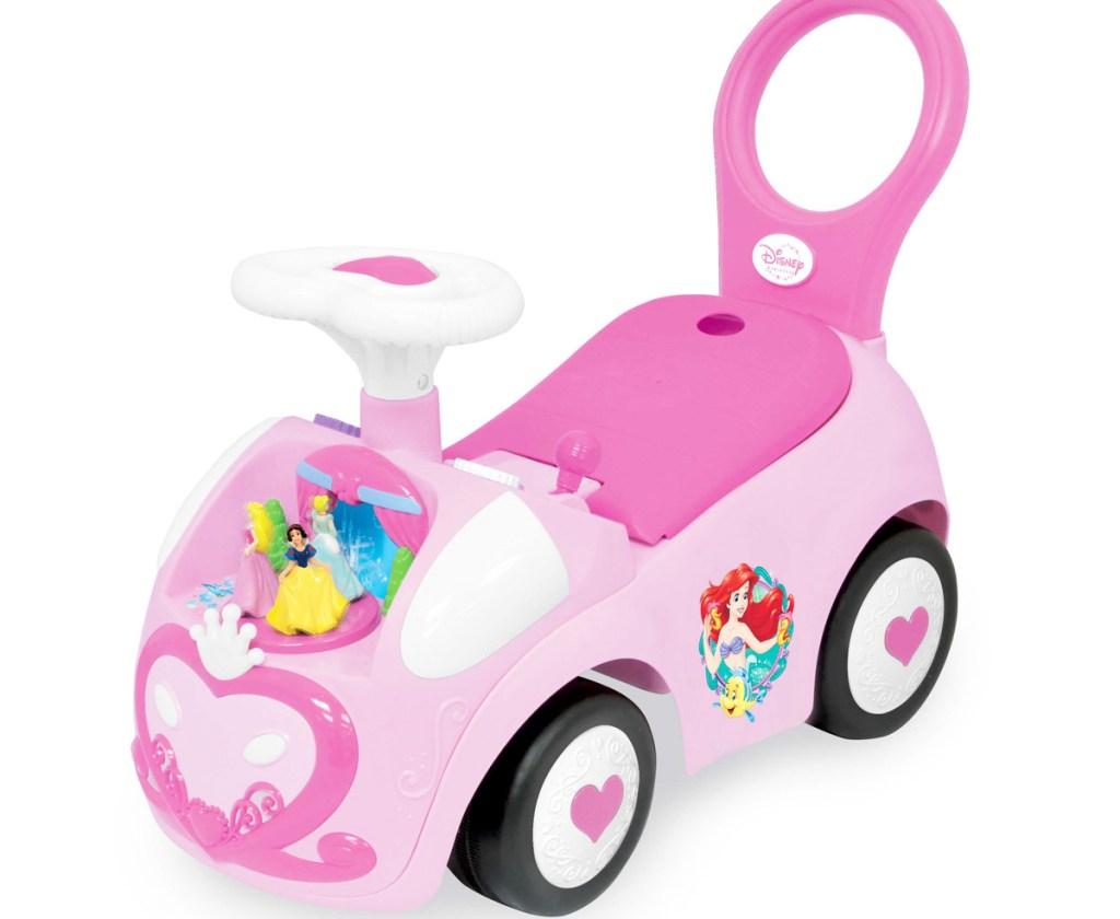 pink disney princess themed toddler ride-on