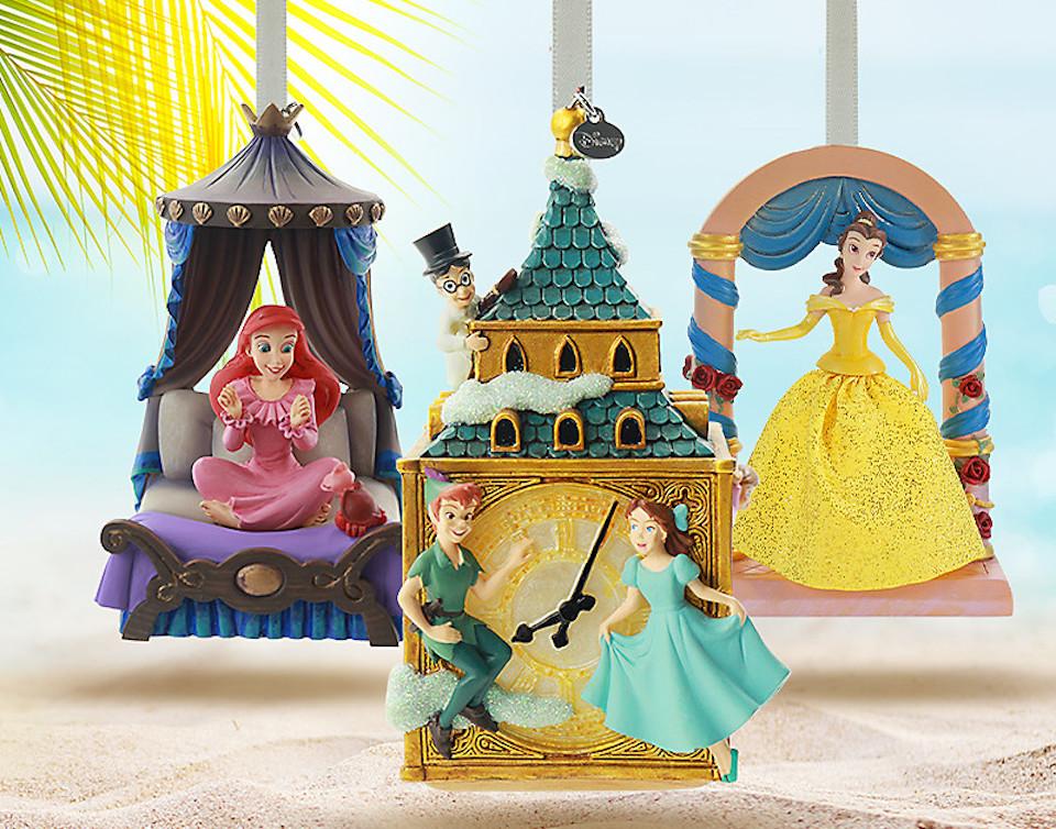 three Disney Ornaments