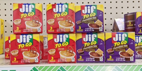 Jif Peanut Butter To-Go Cups & More Lunchbox Snacks Just $1 at Dollar Tree
