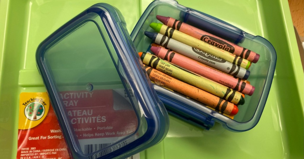 Dollar Tree Snack Container Color Box