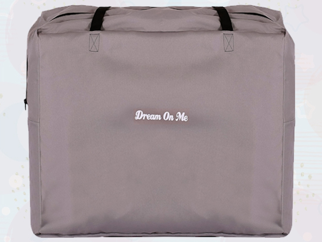 grey colored dream with me travel bag
