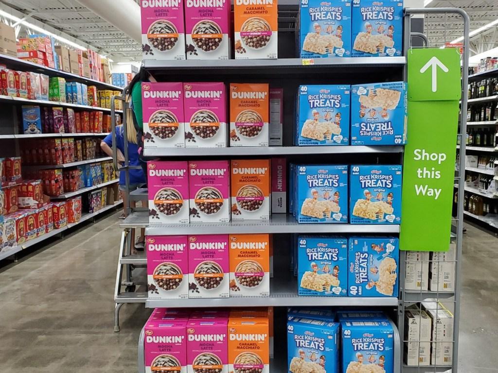 Dunkin cereals on store shelf