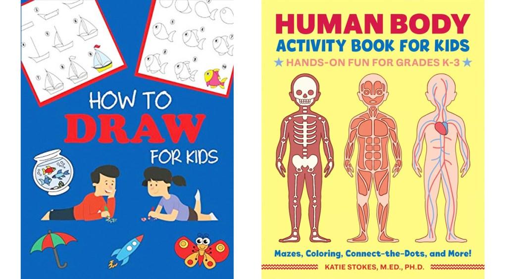 kids how to draw workbook and human anatomy workbook