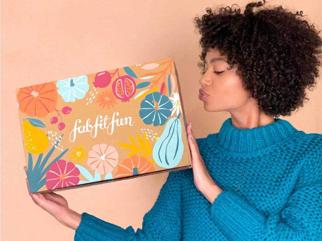 FabFitFun 2020 Fall box in woman's hands