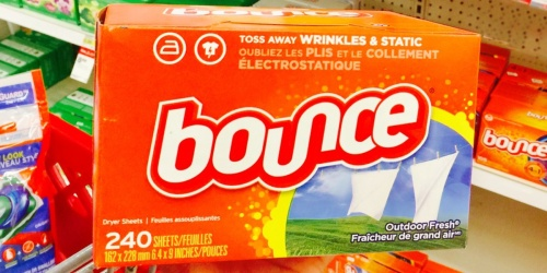 Bounce or Downy Dryer Sheets 240-Count Only $5.49 Shipped on Amazon