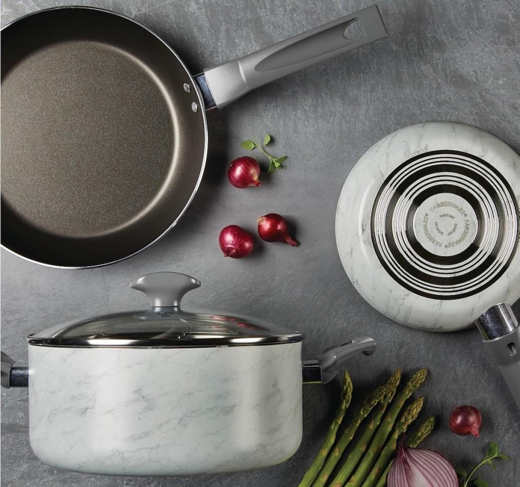 Farberware Cookware on counter