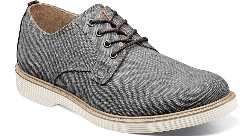 mens grey oxford shoe with white sole