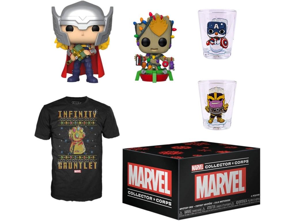 Funko Pop! Subscription Box Marvel Holiday Box
