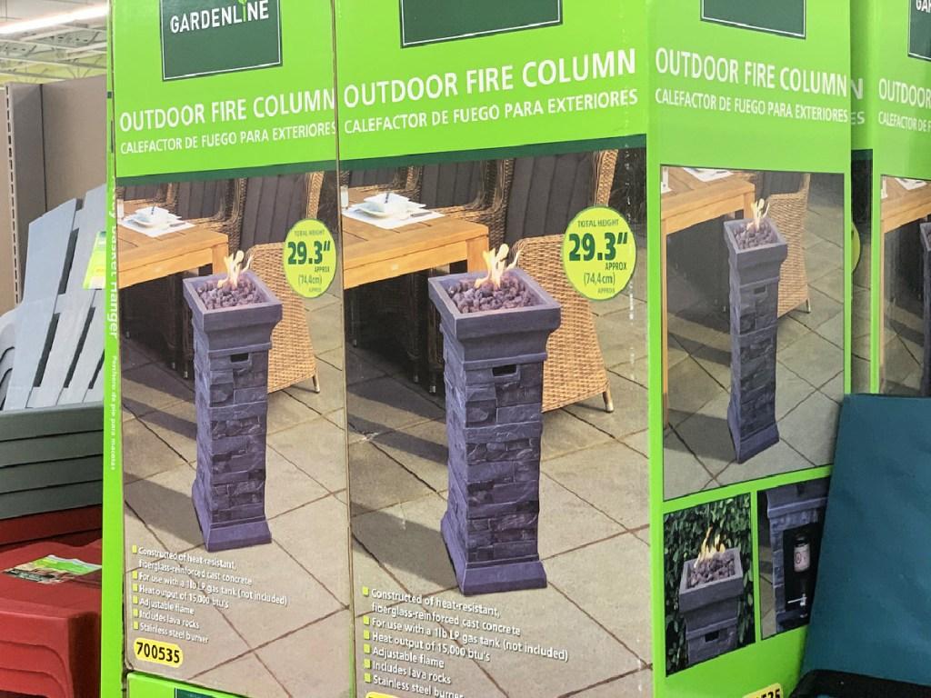 Gardenline Outdoor Fire Column