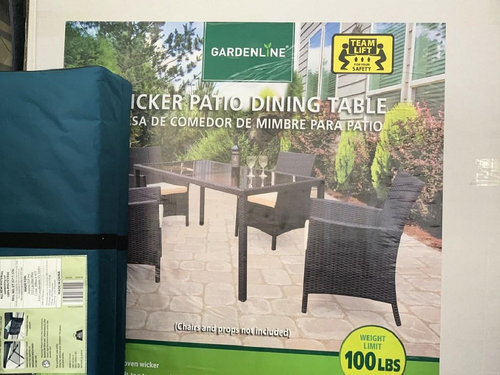 Gardenline Wicker Patio Dining Table
