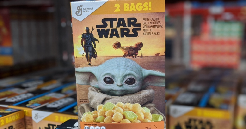 Star Wars the Mandalorian cereal on display in store