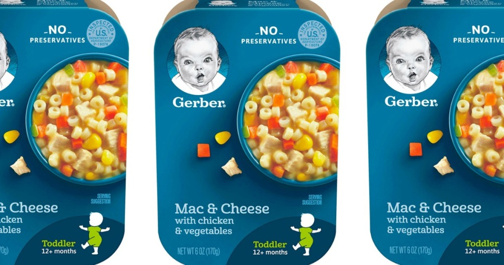 three images of Gerber meals