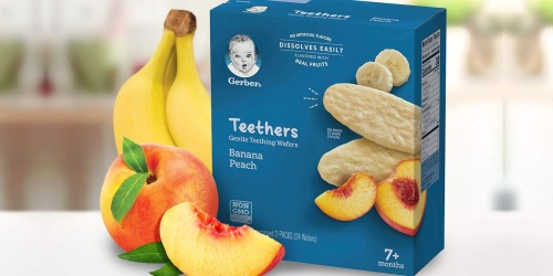 Gerber Teething Wafers 72-Count Pouches Only $13.41 Shipped on Amazon