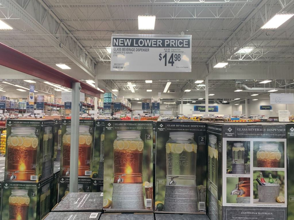 Glass Beverage Dispenser at Sam's Club