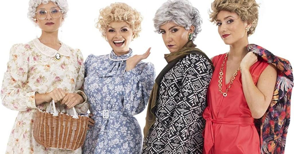 group of women in Golden Girls Halloween costumes
