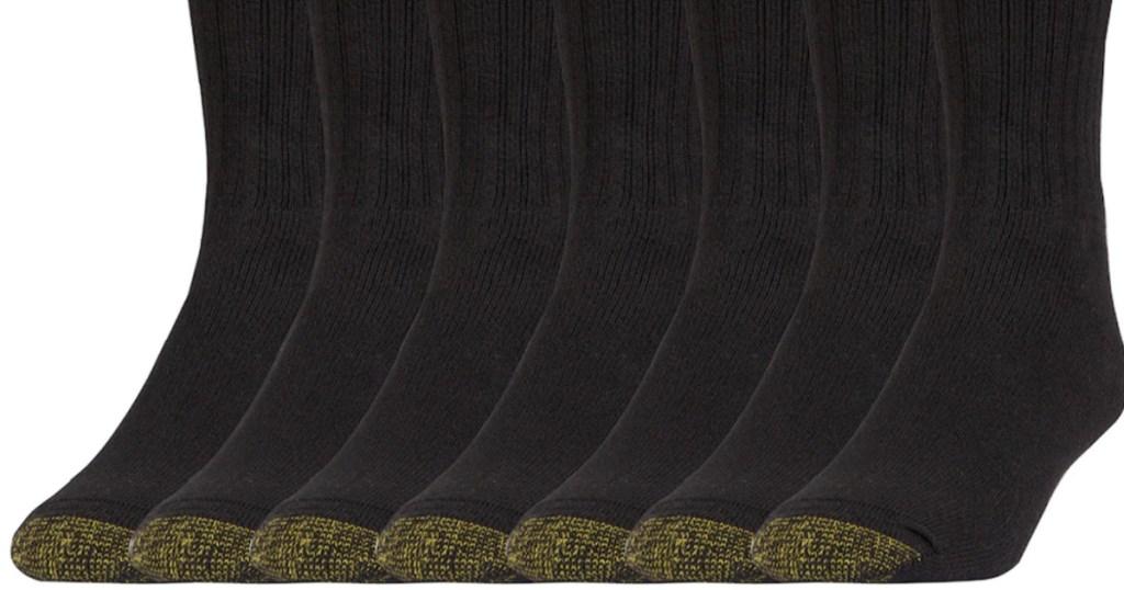 multiple pairs of men's goldtoe black socks