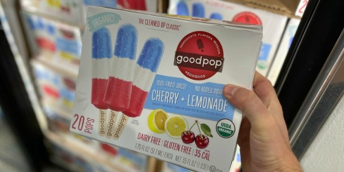GoodPop's Organic Red, White, & Blue Popsicles 20-Count Only $9.99 at Costco