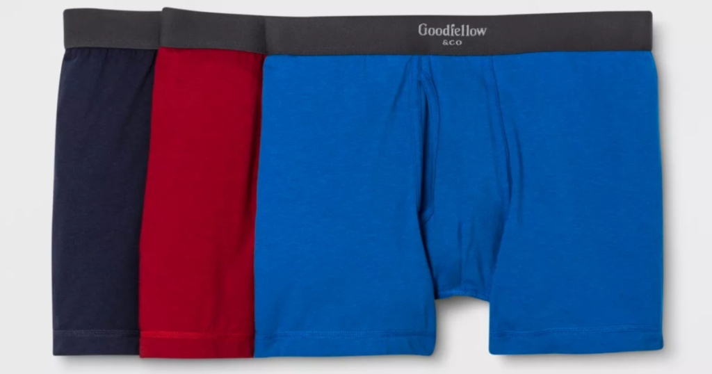 3 pairs of men's Goodfellow & Co boxer briefs