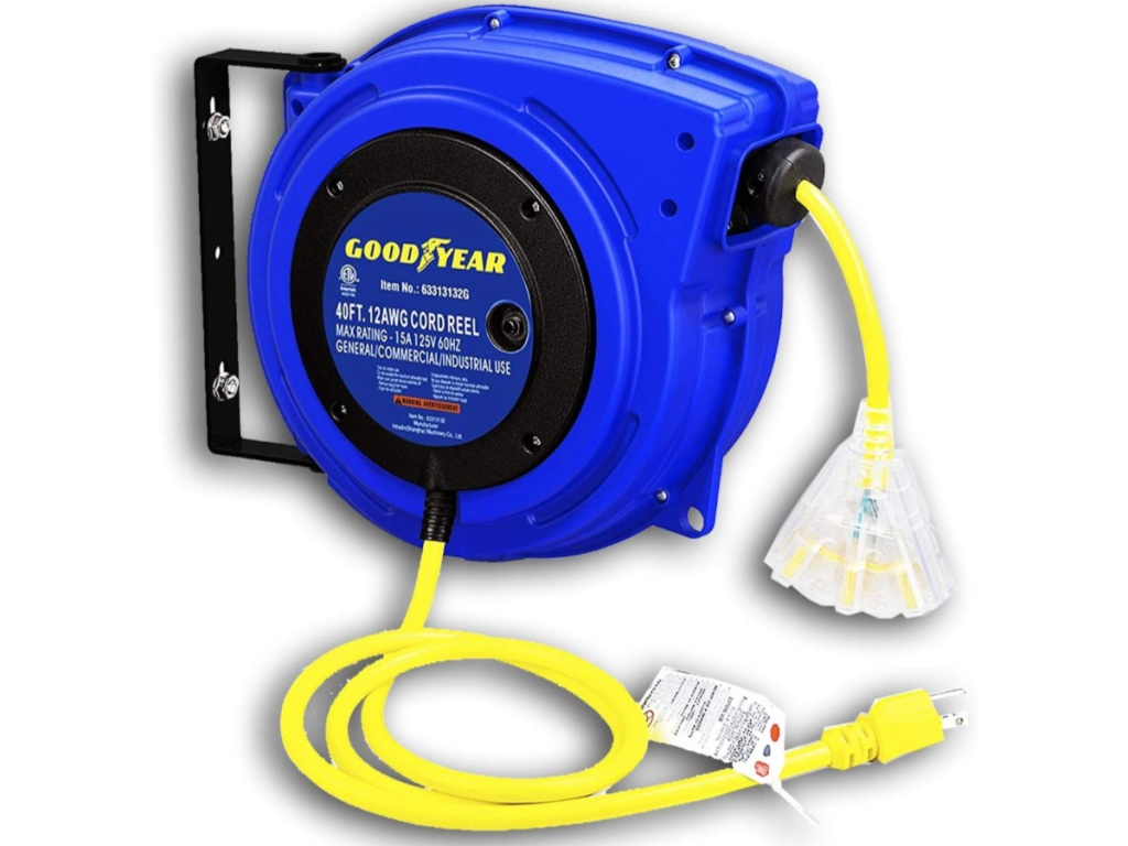 Goodyear Extension Cord Reel Heavy Duty 40 ft