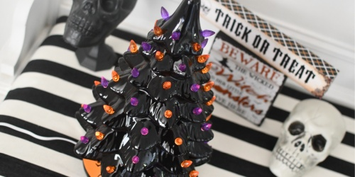 Pre-Lit Ceramic Halloween Tree Only $31.99 Shipped (Regularly $65)