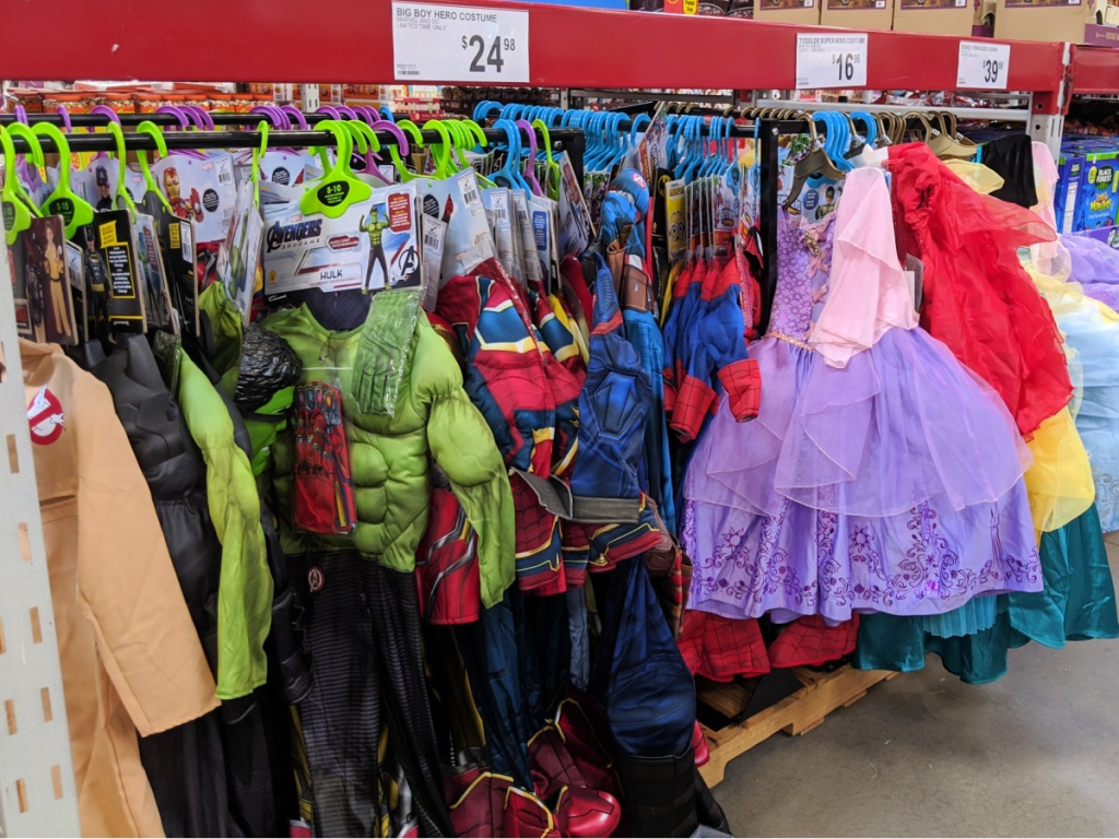 Halloween costumes in Sam's Club