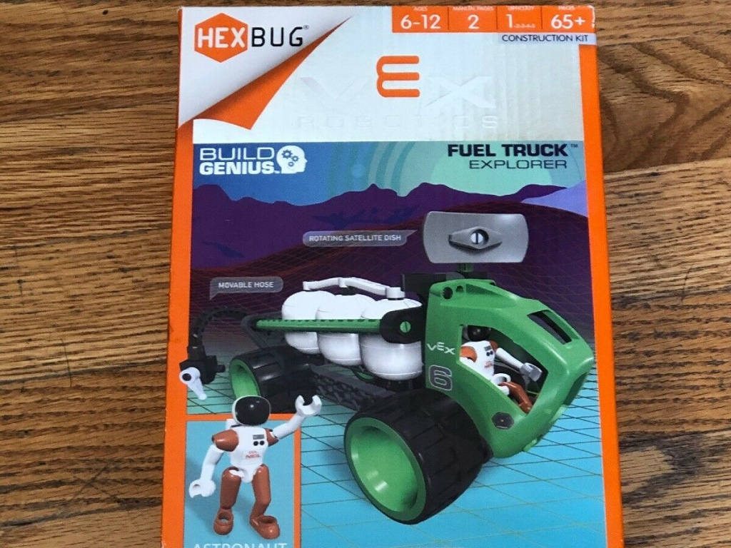 kids green and black robotics fuel toy kit in box