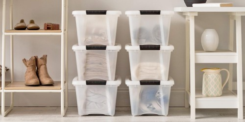 19-Quart Storage Container 5-Pack Just $27.99 Shipped on HomeDepot.com | Only $5.60 Each