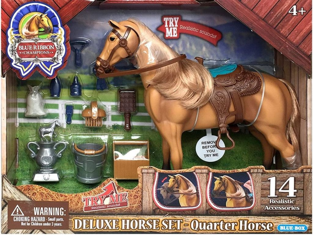horse toy in box