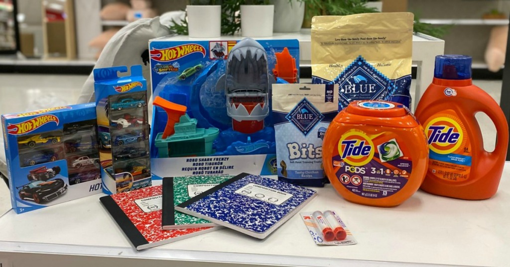 Hot Wheels, Tide, Blue Buffalo and school supply items at Target