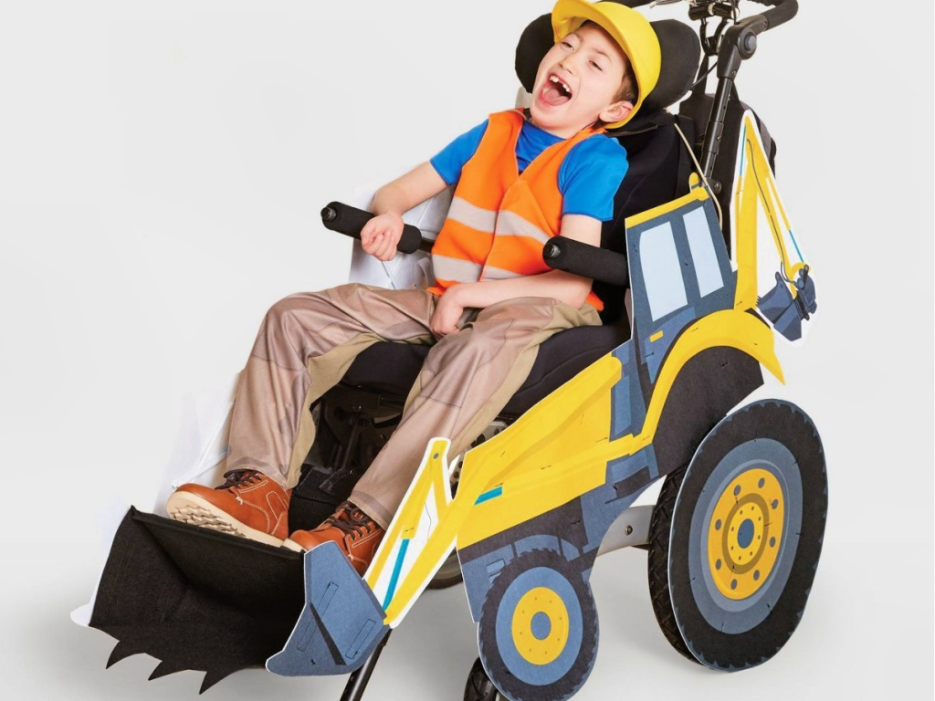 Hyde & EEK! Adaptive Construction Truck Halloween Wheelchair Cover with Hat