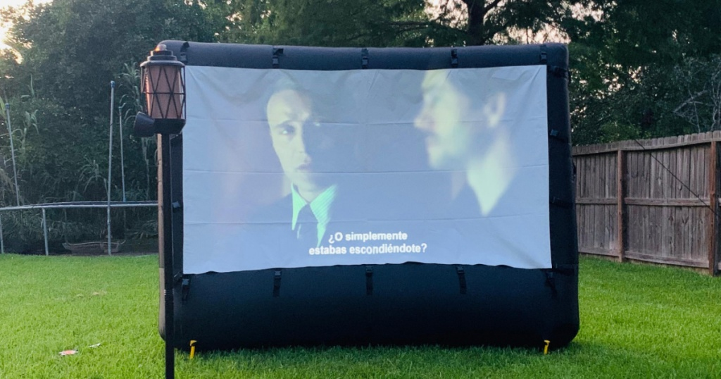 "Insignia 114"" Outdoor Projector Screen Just $199.99 ..."