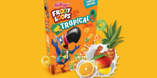 Limited Edition Kellogg's Tropical Froot Loops Cereal Now Available